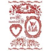 """Переводные изображения """"Transfer"""" DFTR021 новогодние Stamperia, 2 шт., А4, 100 г/м2, С Рождеством"""