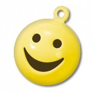 Бубенчики металлические круглый Смайлик, 15 мм, 5 шт., цвет: жёлтый, арт. 8603305, Knorr Prandell