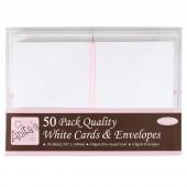 Заготовки для открыток с конвертами ANT1511020 белые, формат А6, 50 шт., DOCRAFTS
