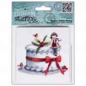 """Штампы резиновые TLP907106 """"Рождественский торт"""" DOCRAFTS, 1 шт., 10,2х10,2 см"""