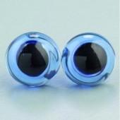 Глазки для игрушек пришивные голубые, 10 мм, 4 шт., стекло, металл, 1036053, EFCO