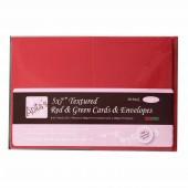 Заготовки для открыток с конвертами ANT1512102 зелёные и красные, 12,7х17,8 см, 10 шт., DOCRAFTS