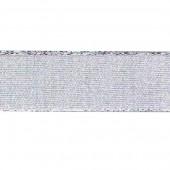 Лента SAFISA металлик серебряная, 25 мм, длина 2 м, арт. P25197-25мм-102