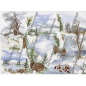 Рисовая бумага для декупажа Decomania, арт. 5001, 35х50 см, 20 г/кв.м, Заснеженный пейзаж
