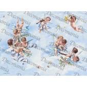 Рисовая бумага для декупажа Decomania, арт. 5070, 35х50 см, 20 г/кв.м., Ангелочки