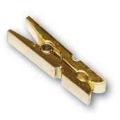 Декоративные Мини-прищепки деревянные золотые FCL29, 12 шт, 3,5 см, Stamperia