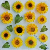 "Самоклеящаяся плёнка с печатью для техники Sospeso Trasparente 05-Sunflower ""Подсолнухи"", 23х23 см"