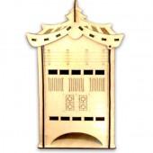 """Домик для чайных пакетиков """"Самурайский"""" деревянный, арт. 12572, 28,5х15,5х11 см"""