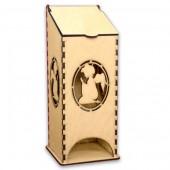 """Домик для чайных пакетиков """"С Ангелом"""" деревянный, арт. 13663, 23х9,5х9,5 см"""