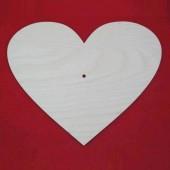"Заготовка для часов ""Сердце"" из фанеры 6 мм, арт. 13660, 24,5х20 см"