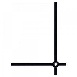 Стрелки 02A black для часового механизма W2100 - чёрные, металл, длина 80/60 мм, Hermle