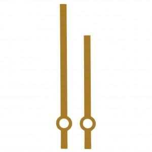 Стрелки 02A gold для часового механизма Hermle W2100 - золотые, металл, длина - 80/60 мм