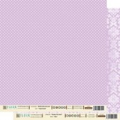 "Бумага для скрапбукинга двухсторонняя FD1000302 ""Сиреневый"", 30х30 см, Fleur design"