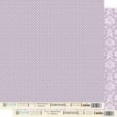 """Бумага для скрапбукинга двухсторонняя FD1000307 """"Черничный"""", 30х30 см, Fleur design"""