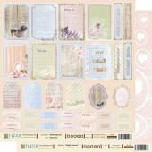 """Бумага для скрапбукинга двухсторонняя FD1000407 """"Шебби Прованс. Карточки"""", 30х30 см, Fleur design"""