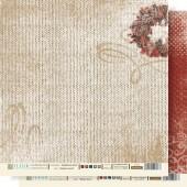 """Бумага для скрапбукинга двухсторонняя FD1000607 """"Крафтовая Зима. Зимняя сказка"""", Fleur design, 30х30 см"""