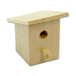 Скворечник-мини деревянный для декора, 5х3 см