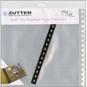 Защитные файлы для страниц скрап-альбома ZUT7582, Zutter, 20х20 см, 6 шт.