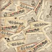 """Рисовая салфетка Stamperia для декупажа DFT247 """"Старинные газеты"""", 50х50 см"""