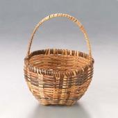 Корзинка из прутьев ротанга маленькая, высота без ручки: 4 см, арт. 216858040, Knorr Prandell