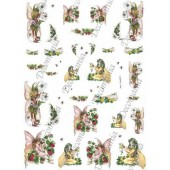 Рисовая бумага для декупажа Decomania, арт. 5148, 35х50 см, 20 г/кв.м., Феечки