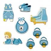 "Декоративные элементы 6930193 ""baby boy"" KNORR PRANDELL деревянные, 8 шт., 2,5-4 см"