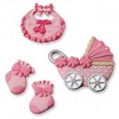 "Декоративные элементы 6930195 ""baby girl"", 3-4,5 см, 4 шт., полимерная резина, KNORR PRANDELL"