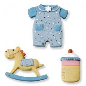 "Декоративные элементы 6930198 ""baby boy"", 2,5-3,5 см, 3 шт., полимерная резина, KNORR PRANDELL"