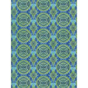 """Бумага для техники DECOPATCH 388 """"Орнамент сине-зелёный"""", 30x40см"""