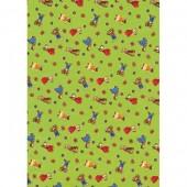 """Бумага для техники DECOPATCH 454 """"Медвежата на зелёном фоне"""", 30x40см"""