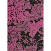 "Бумага для техники DECOPATCH 460 ""Кружево розовое на чёрном фоне"", 30x40см"