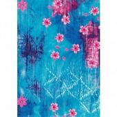 """Бумага для техники DECOPATCH 492 """"Розовые цветы на голубом"""", 30x40см"""