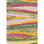 """Бумага для техники DECOPATCH 509 """"Мозаика зелёная с красным"""", 30x40см"""