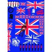 """Бумага для техники DECOPATCH 530 """"Англия, синий"""", 30х40 см"""