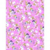 "Бумага для техники DECOPATCH 562 ""Цветы и розочки на розовом фоне"", 30x40см"