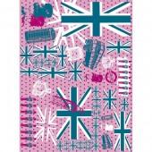 """Бумага для техники DECOPATCH 580 """"Англия розовая"""", 30x40см"""
