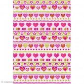 """Бумага для техники DECOPATCH 636 """"Сердечки розовые с зелёным"""", 30x40см"""