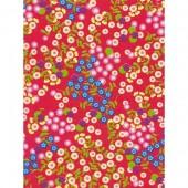 """Бумага для техники DECOPATCH 383 """"Мелкие цветочки на красном фоне"""", 30x40см"""
