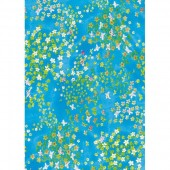 "Бумага для техники DECOPATCH 499 ""Цветочки на небесно-голубом"", 30x40см"