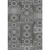 """Бумага для техники DECOPATCH 632 """"Узор из кругов чёрно-белый"""", 30x40см"""