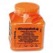 Клей-лак для декопатча DECOPATCH-PAPER PATCH с золотыми блестками, PP150PAIL (оранжевая баночка), 150 гр.
