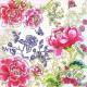 """Салфетка для декупажа """"Узор из китайских цветов пионов"""" бумажная, CHI, 33х33 см"""