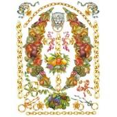 """Декупажная карта """"Лев, цепи, фрукты"""" Calambour PR32, 50х70 см, 80 г/м.кв."""