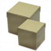 Коробка квадратная - заготовки из картона, 2 шт., 15х15х15 см и 10,5х10x10 см, KC01/2S, Stamperia