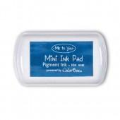 """Штемпельная подушка """"Mini"""", Me To You для штампов синяя, с пигментными чернилами MTY551004, DOCRAFTS, 6,7х3,8 см"""