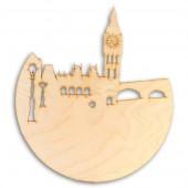 """Заготовка для часов """"Ночной Лондон"""" из фанеры, арт. 13713, 24,6х24,6х0,3 см"""