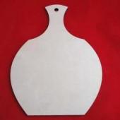 """Досочка разделочная """"Ваза"""" с отверстием деревянная, арт. 12259, 28,3х21 см"""