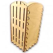 """Заготовка из дерева """"Короб-подставка с заборчиком под масло"""", арт. 141353, 10,3х10,3х20,7 см"""