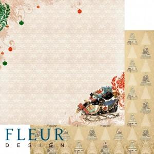 """Бумага для скрапбукинга двухсторонняя FD1001803 """"Ожидание праздника. Чудесные подарки"""", Fleur design, 30х30 см"""