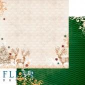 """Бумага для скрапбукинга двухсторонняя FD1001805 """"Ожидание праздника. Сказочный лес"""", Fleur design, 30х30 см"""